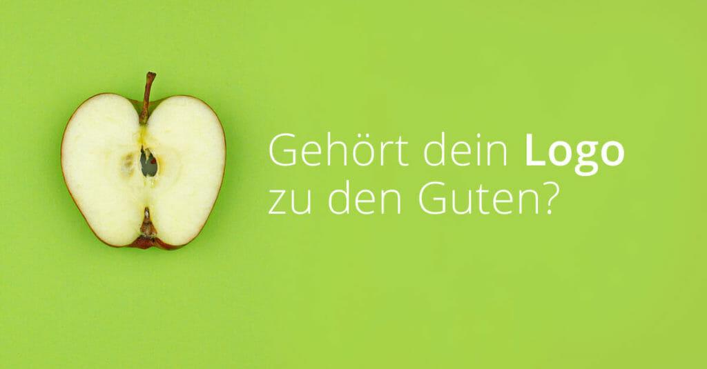 Apfel und Text: Gehört dein Logo zu den Guten?