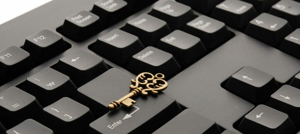 Keyboard mit Schlüssel