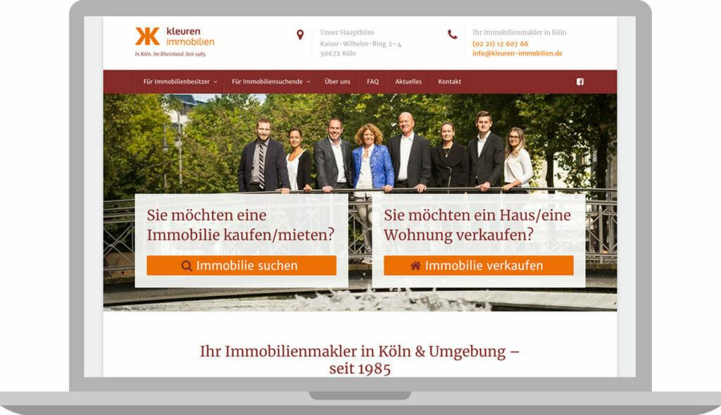 webdesign-kleuren-immobilien website