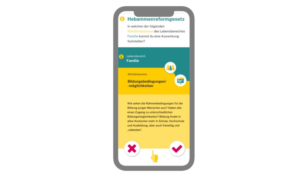 Die Jugend-Check App auf einem Handy